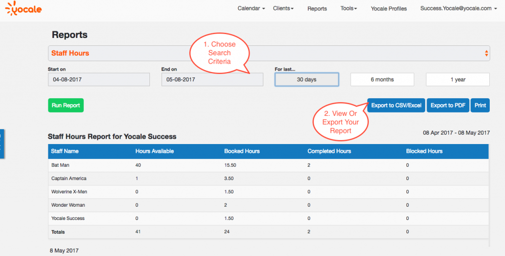 Easily Manage Your Team With Unlimited Staff Profiles For